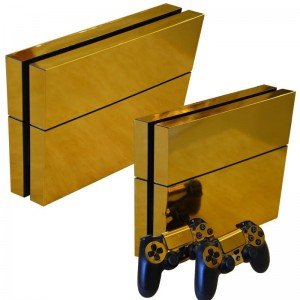 Gold skin Playstation 4
