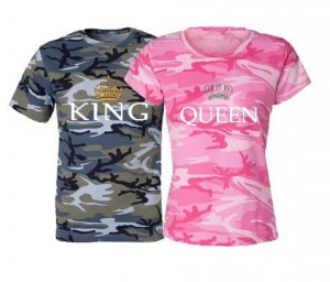 King & Queen camouflage t-shirt